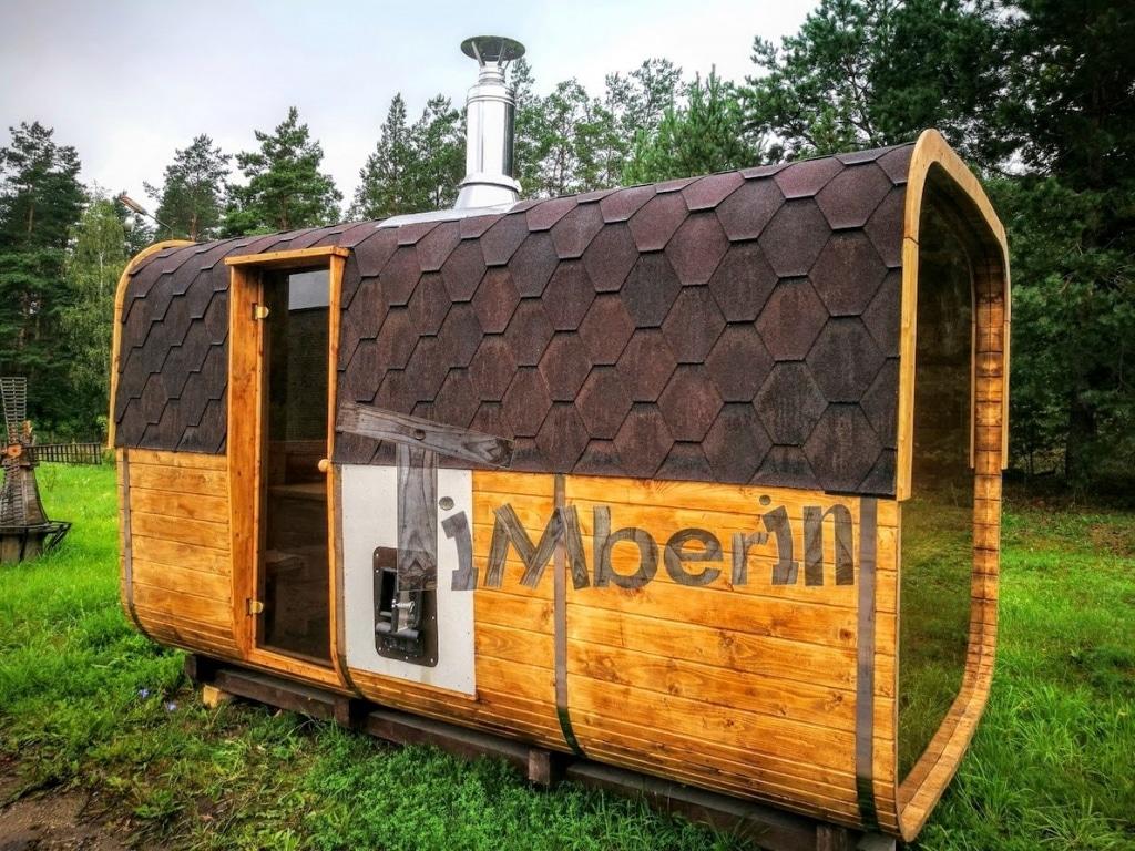 rektangulær udendørs sauna