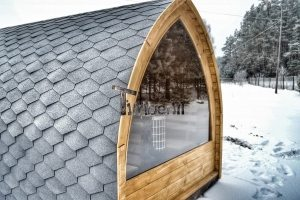 igloo sauna med panorama vindue