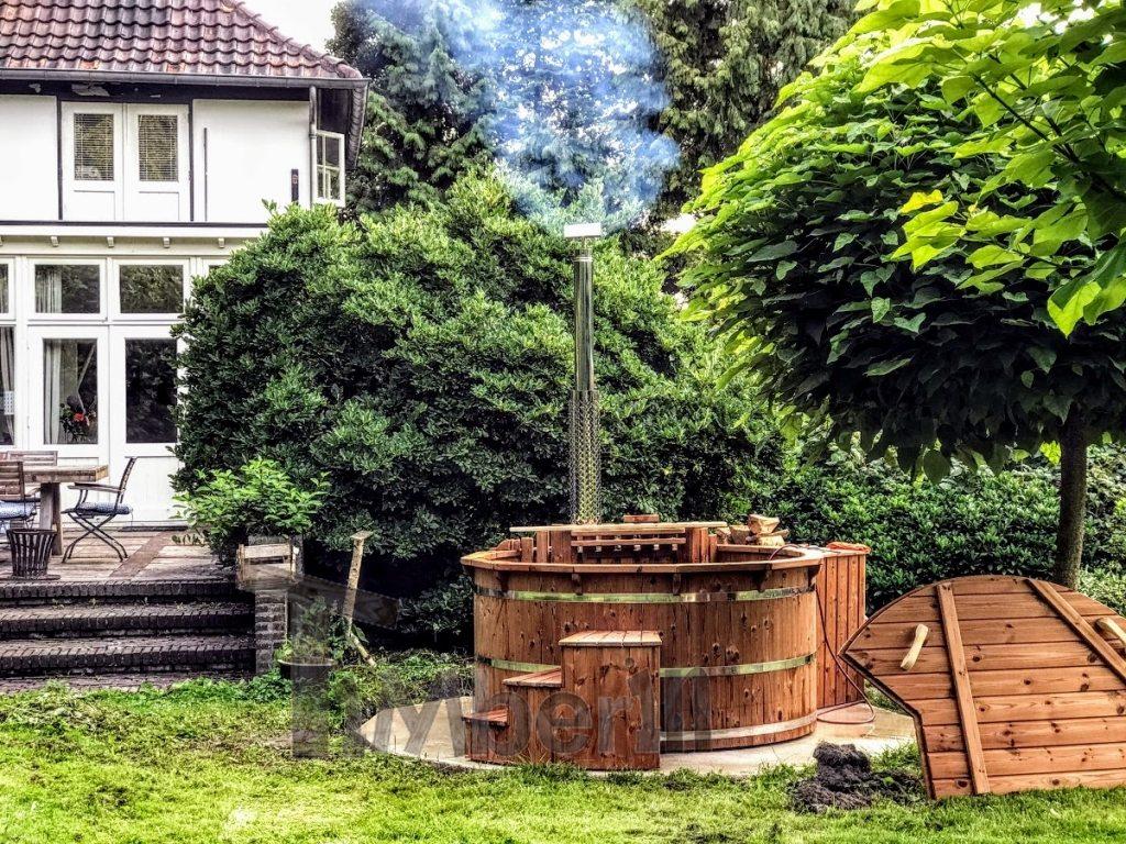 træ udendørs vildmarksbad projekt i Tyskland