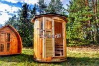 lodret op højre stående sauna