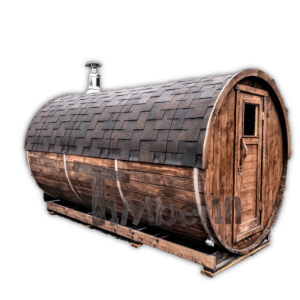 Udendørs sauna tønde i træ til haven