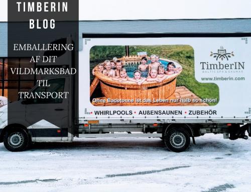 EMBALLERING AF DIT VILDMARKSBAD TIL TRANSPORT
